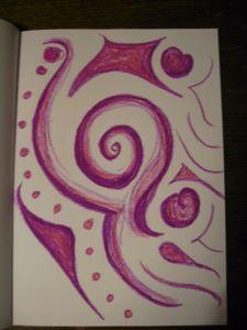 Patterns form, shift, swirl.