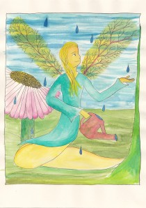 Wealth Faery Painting